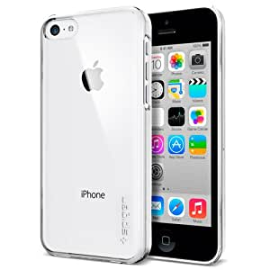 iPhone 5C Case, Spigen® [Ultra Fit] +Screen Protector [Crystal Clear] Clear Hard case Snap on Case Thin for iPhone 5C - Crystal Clear (SGP10507)