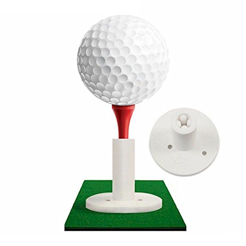 Rubber Golf Tee Holder for Practice & Driving Range Mats - Golf Rubber Tee