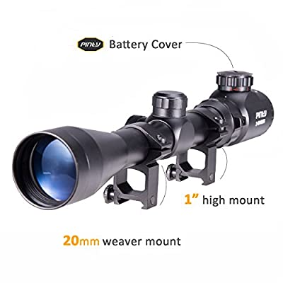 Pinty 3-9X40 Red Green Rangefinder Illuminated Optical Sniper Rifle Scope