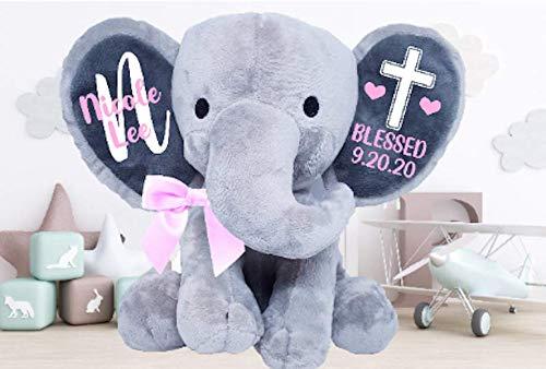 stuffed animal ring bearer gifts Birth gift Personalized Newborn gift Ring Bearer gift Baby shower gift Personalized stuffed elephant
