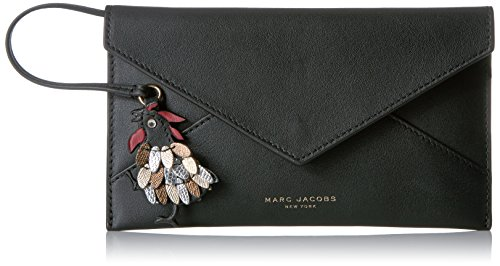 Marc Jacobs Women's Rooster Envelope Coin Purse, Black, One Size by Marc Jacobs