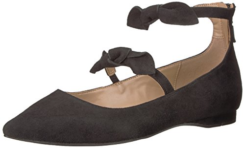 The Flat Bow Toe Double Suede Women's Black Pointed Emilia Fix vqSwgrUv