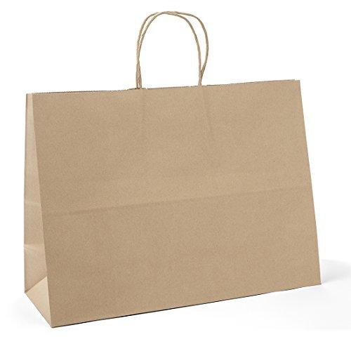Halulu Brown Kraft Paper Gift Bags 16x6x12