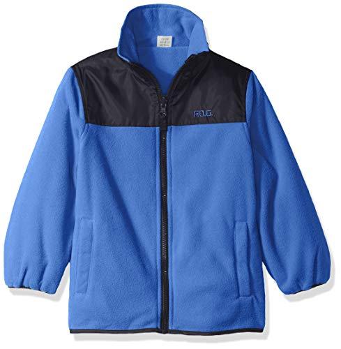 Fleece Reversible Jacket - London Fog Boys' Toddler Reversible Fleece-to-Poly Jacket, Blue, 3T