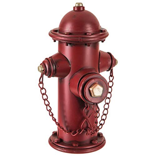 Gerson Large Firefighter Fire Hydrant Metal Coin Bank 10