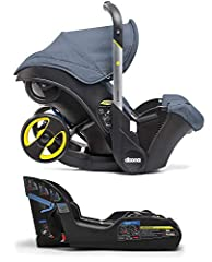 Color:Marine Blue Doona Infant Car Seat with Base A brand new car seat with a unique feature - the Doona car seats integrated wheels flip down to convert into a complete travel system! We were absolutely amazed by the Doona car seat - it is a...