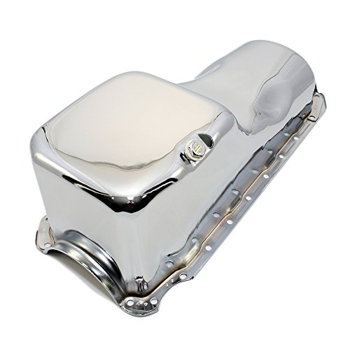 Assault Racing Products A9294 Chevy Big Block Chrome Stock Style 4qt Oil Pan BBC 396 402 427 454 (Chrome Stock)