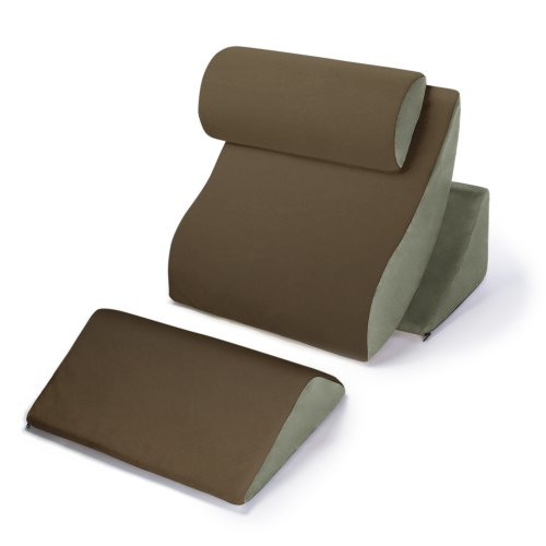Avana-Kind-Bed-Orthopedic-Support-Pillow-Comfort-System-MochaSage-Complete-Comfort-System