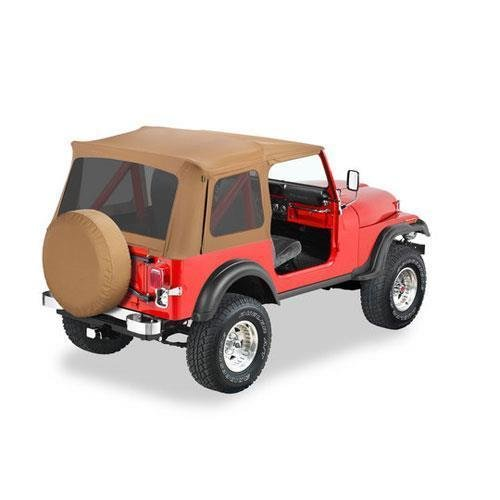 Bestop 55729-37 Spice Supertop Replacement Skins w/ Tinted Windows 1976-1995 Jeep CJ7 and Wrangler (Skin Replacement Supertop)
