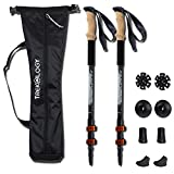 Trekking Walking Poles Collapsible Adjustable Lightweight Aluminum Nordic Treking Stick Telescoping Retractable Hiking