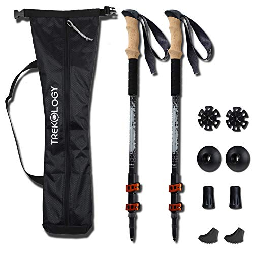 - Trekking Walking Poles Collapsible Adjustable Lightweight Aluminum Nordic Treking Stick Telescoping Retractable Hiking Pole Walking Sticks Best for Women Men Kids Seniors Snow Ski Trek Hike Trail