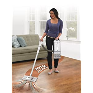 Shark Navigator Professional Upright Corded Bagless Vacuum for Carpet and Hard Floor with Lift-Away Hand Vacuum and Anti-Allergy Seal (NV370), White