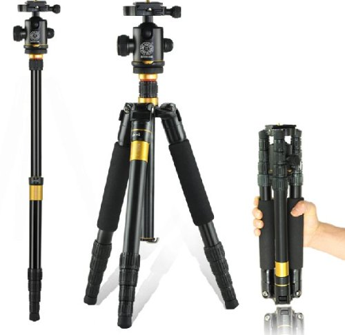 AFAITH Q-666 SLR Camera Tripod Monopod & Ball Head Portable Compact Travel