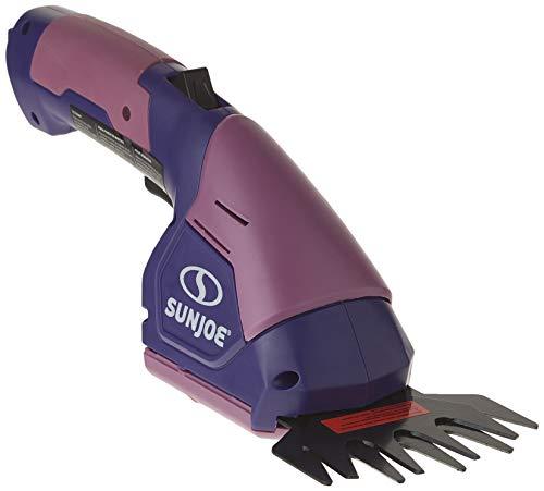 Sun Joe HJ604C-PRP 7.2V Cordless 2-In-1 Grass Shear + Hedge Trimmer, Purple