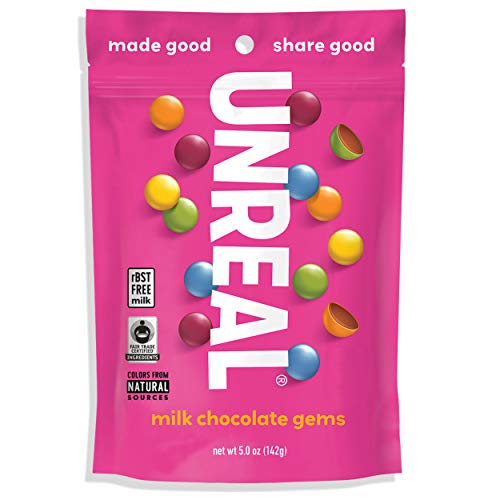(UNREAL Milk Chocolate Gems | Naturally Colored, Less Sugar | 6)