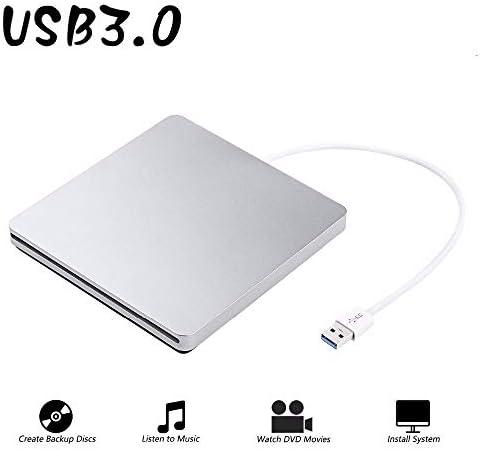 DVDドライブ USB 3.0スロットロードドライブ外付けDVDプレーヤーCD / DVD RWバーナーライターレコーダーのSuperDrive YYFJP