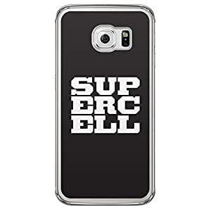 Loud Universe Samsung Galaxy S6 Edge Supercell Printed Transparent Edge Case - Black