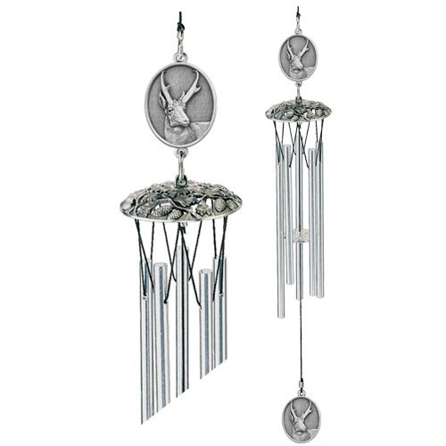 1pc, Pewter Antelope Wind Chimes