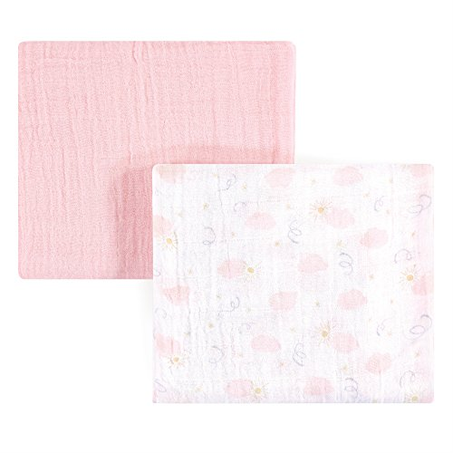 Yoga Sprout Muslin Swaddle Blankets, Pink Sky 2 ()
