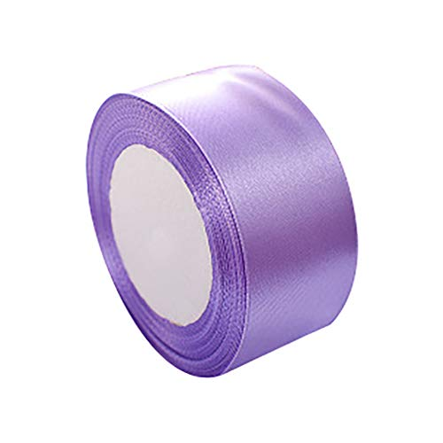 1KTon 25YD Double Face Satin Ribbon 38mm Multi Craft for Wedding Party Festival Birthday Decoration Supplies (Purple) (Ribbon Satin Lavender Double Sided)