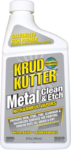 - Krud Kutter ME326 Metal Clean and Etch, 32 Oz, Bottle, Translucent, Liquid, Orange