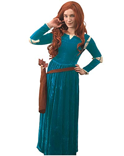 DAZCOS US Size Adult Princess Gown Green Cosplay Dress and Quiver (Women -