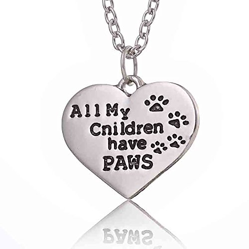 All My Children have PAWS Silvertone Necklace