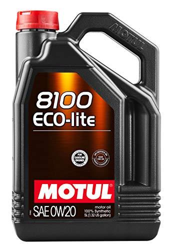 Motul 8100 ECO-lite 0W-20 Synthetic Oil 5 Liters (108536), 20. liters