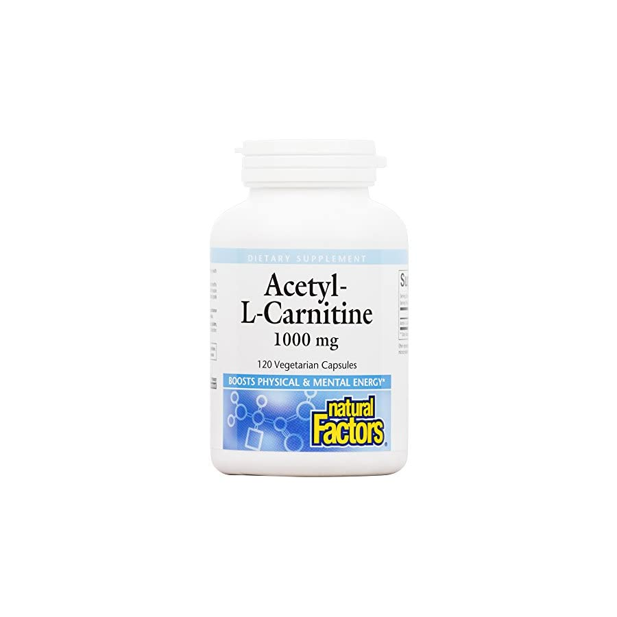 Natural Factors Acetyl L Carnitine Tablet, 500mg, 120 Count