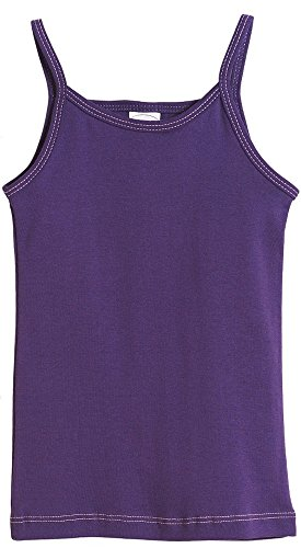 (City Threads Little Girls' Cotton Camisole Cami Tank Top T-shirt Tee Tshirt spaghetti Straps Summer Play School Sports Sensitive Skin SPD Sensory Sensitive Clothing - Purple -)
