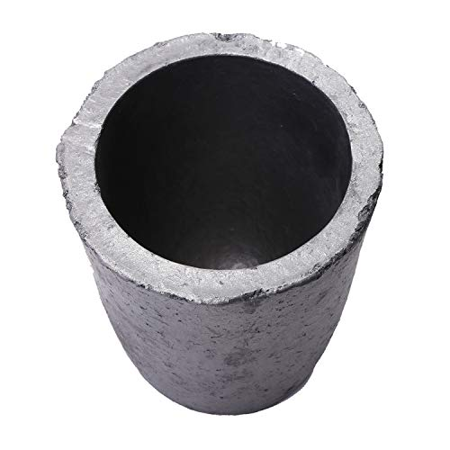 Nisorpa Durable Foundry Silicon Carbide 6KG Graphite Crucibles Cup Furnace Coke Oven Electric Torch Lab Supply Melting Casting Refining Gold Silver Copper Brass Aluminum (#6(750ML))