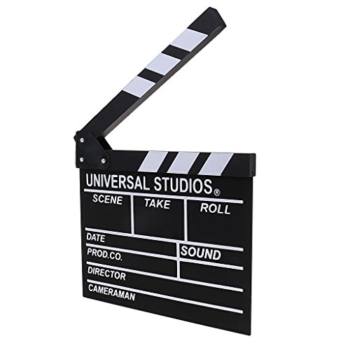 Baoblaze Movie Film Director's Clapboard Slate Cut Action Scene 10x12