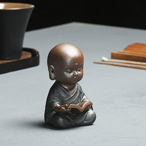 Zen Style Monk Home Decoration House Warming Gift Holiday Ornament Zisha Porcelain Tea Pet Small Size Tea Play