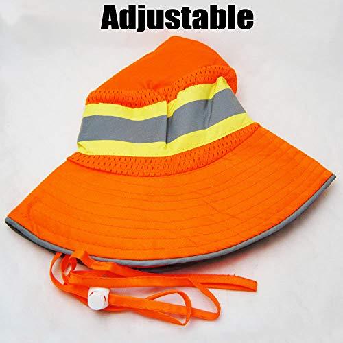 Ironwear 1271-O Booney Hat with Adjustable Neck Strap, LG/XL, Orange (100) by Ironwear (Image #2)