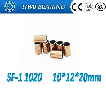 10pcs SF-1 Self Lubricating Composite Bearing Bushing Sleeve 10 x 12 x 20mm