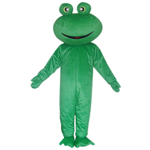 Green Frog Mascot Costume Cartoon Halloween Party Dress Adult Size ()