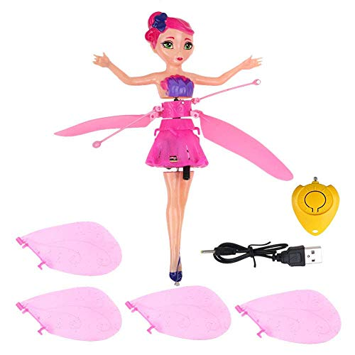 MinaLu Flying Fairy Doll for Girls 6 Years Old,Infrared Induction Teen Toys Flying Princess Doll and Remote Control by MinaLu (Image #3)