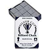 Silver Cup Billiard CHALK - ONE DOZEN