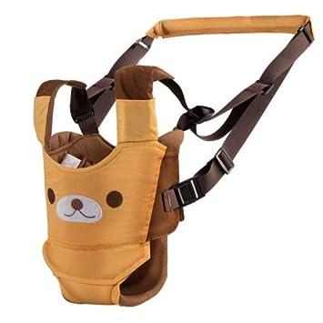 Adjustable Yellow Breathable Safety Walking Harness Walking Belt for Toddler Infant Safe Stand Hand Held Baby Walking Assistant Walking Helper Baby Walking Harness Handheld Baby Walker