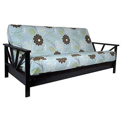 (Strata Furniture Arial Black Walnut Full Wall Hugger Futon Frame (KD))