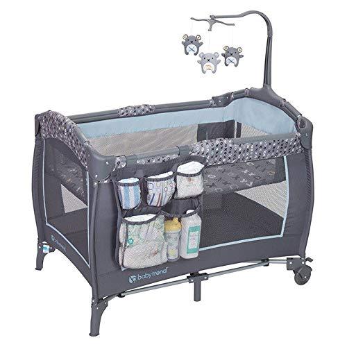 Baby Trend PY86B52B Trend-E Nursery Center Play Yard w/Wheels, Starlight Blue Baby Trend Play Yard