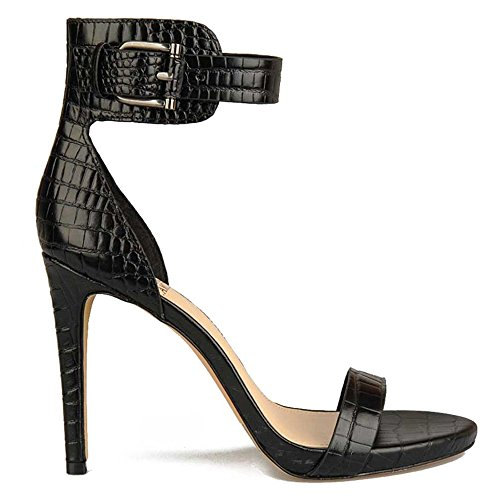 Women's Farella Camuto Black Vince Smooth Croc Shoe Fq57nwZ