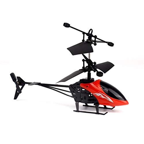 Pausseo Mini RC Drone,Infrared Induction Remote Control Helicopter Toy Gyro Helicopter Kids Adults (Red) by Pausseo Toy