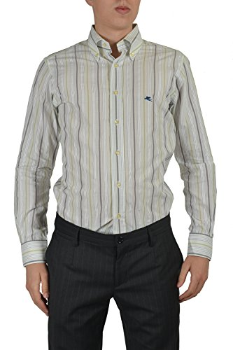 Etro Men's Multicolor Striped Long Sleeve Button Down Dress Shirt US 15.5 IT 39