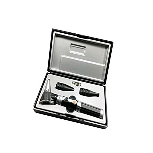 (QWERT Co. Wang Bright LED Otoscope Kit for Examining Reuseable Specula Magnifying (3X) for Children, Adults, Pets, Etc.)