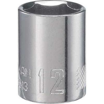 CRAFTSMAN Deep Socket, Metric, 1/4-Inch Drive, 12mm, 6-Point (CMMT43513)