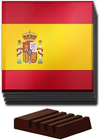 Compra Duke Gifts Bandera de España Juego de 4 Posavasos de Cristal Madera Soporte 198 en Amazon.es