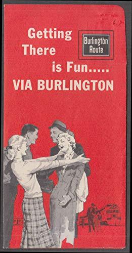 - Burlington Route Railroad ticket wrapper wallet 1961 unmarked