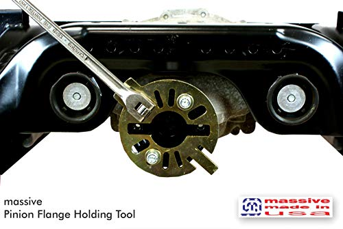 Massive PRO KIT Pinion Flange Holding Tool Holder Yoke Wrench 3//8 Thick Steel Made USA Compatible w//Jeep Ring Rear End Axle Nut Seal 8.8 40 Dana!
