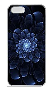 iPhone 5 5S Case Cool Blue Flower Funny Lovely Best Cool Customize iPhone 5S Cover Transparent